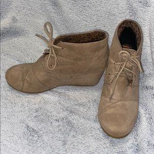 Beige booties size 10